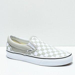 Vans Slip-On Desert Sage/True White Skate Shoes